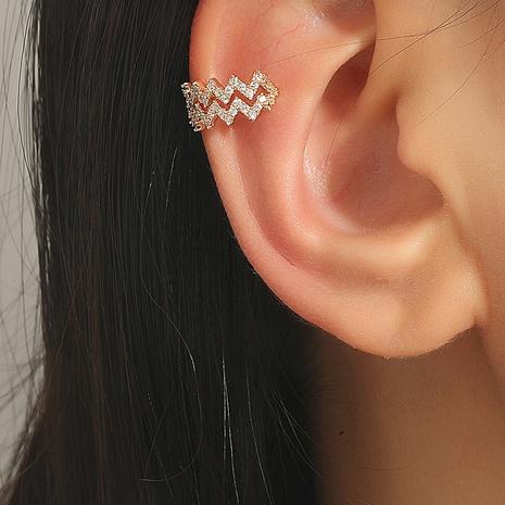 Al por mayor joyería diamante línea de onda clip de oreja de cobre Nihaojewelry NHDP376962's discount tags