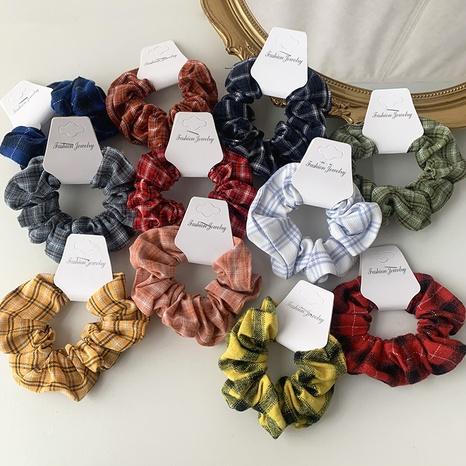 vente en gros accessoires chouchous en tissu à carreaux Nihaojewelry NHOF376974's discount tags