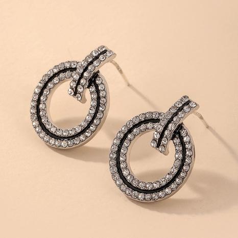 Nihaojewelry joyas al por mayor con incrustaciones de diamantes de imitación círculo pendientes geométricos NHNJ376981's discount tags