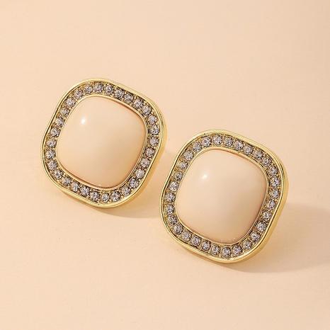 Pendientes cuadrados de diamantes de imitación retro al por mayor de joyería Nihaojewelry NHNJ376989's discount tags