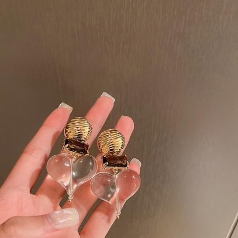 nihaojewelry pendientes de corazón transparente de estilo barroco joyería al por mayor NHQIY377057's discount tags