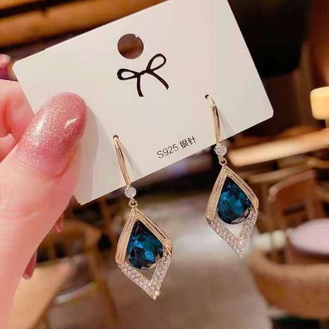 nihaojewelry moda forma de gota de agua colgantes de diamantes pendientes joyería al por mayor NHDQ377083's discount tags