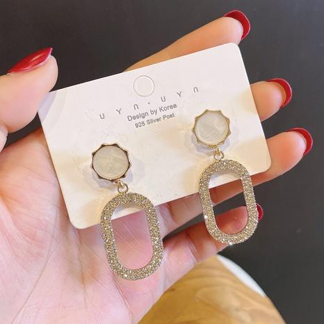 nihaojewelry pendientes de diamantes geométricos huecos largos simples joyas al por mayor NHDQ377097's discount tags