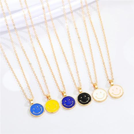 Nihaojewelry süße Smiley-Legierung mehrfarbige Halskette Großhandel Schmuck NHGO377109's discount tags