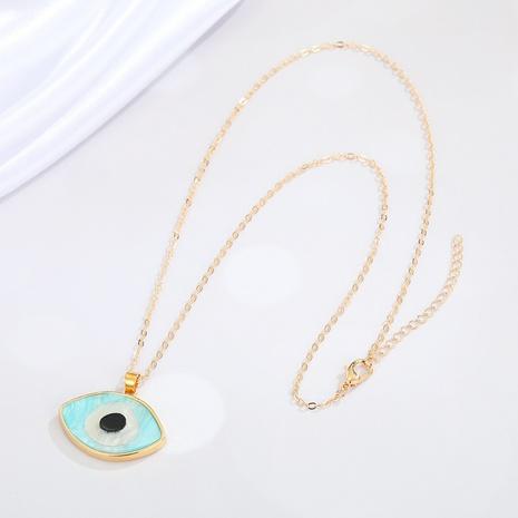 Nihaojewelry creativo diablo ojo clavícula collar de cadena joyería al por mayor NHGO377116's discount tags