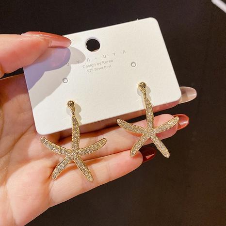 Al por mayor joyas de diamantes aretes de estrellas de mar Nihaojewelry NHPA377166's discount tags