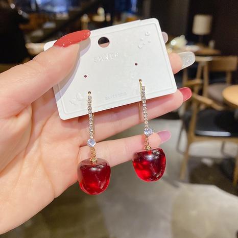 Al por mayor joyas cerezas diamante cobre ganchos para la oreja Nihaojewelry NHPA377182's discount tags