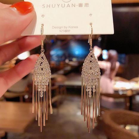 Pendientes geométricos de la borla del diamante al por mayor de la joyería de Nihaojewelry NHPA377193's discount tags