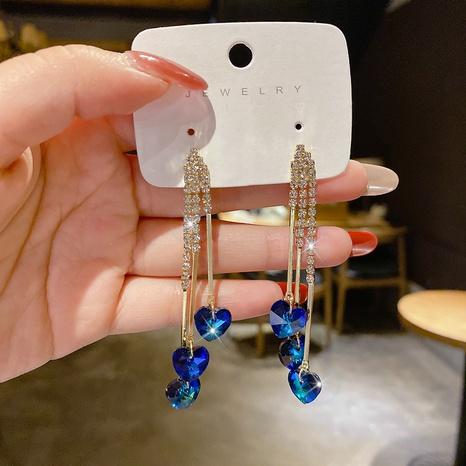 Joyería al por mayor de cristal azul océano estrella corazón colgante pendientes Nihaojewelry NHPA377202's discount tags