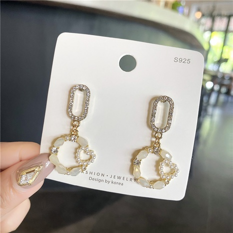 Al por mayor joyas de perlas de circonio micro aretes de diamantes Nihaojewelry NHPA377204's discount tags