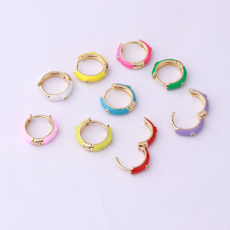 wholesale jewelry candy color dripping earrings Nihaojewelry NHEN377014
