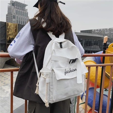 wholesale Korean style letter embroidery canvas backpack nihaojewelry  NHAV382072's discount tags