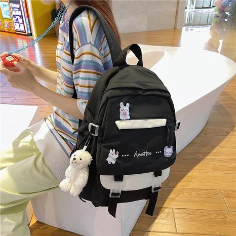 wholesale korean style large-capacity color matching cartoon pendant backpack nihaojewelry  NHAV382095's discount tags