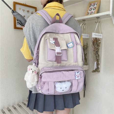 wholesale simple large capacity cartoon pendant small pocket backpack nihaojewelry  NHAV382100's discount tags