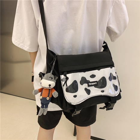 wholesale fashion large capacity cow pattern shoulder canvas bag nihaojewelry  NHAV382101's discount tags