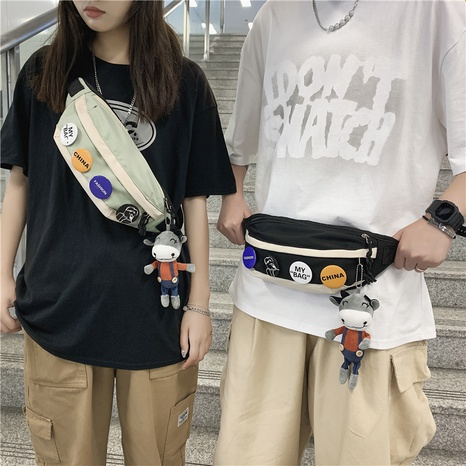 wholesale simple cartoon pendant badge shoulder chest bag nihaojewelry  NHAV382102's discount tags