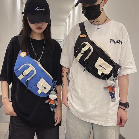 wholesale fashion color matching cartoon badge shoulder waist bag nihaojewelry  NHAV382104's discount tags