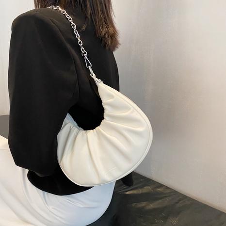Fashion Pleated Chain Single Shoulder Underarm Cloud Bag Wholesale  NHJZ382113's discount tags