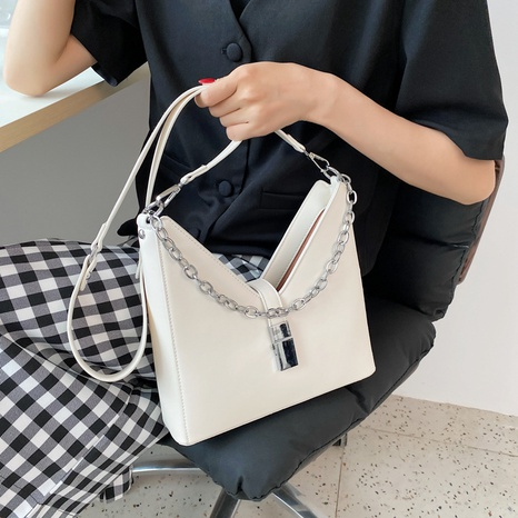 Nihaojewelry fashion soft leather chain shoulder messenger bag wholesale accessories NHJZ382183's discount tags