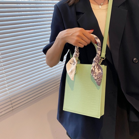 wholesale fashion solid color silk scarf portable shoulder small bag nihaojewelry  NHWH382196's discount tags