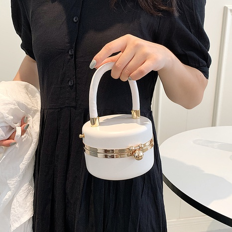 wholesale fashion solid color shoulder mini bucket bag nihaojewelry  NHWH382197's discount tags