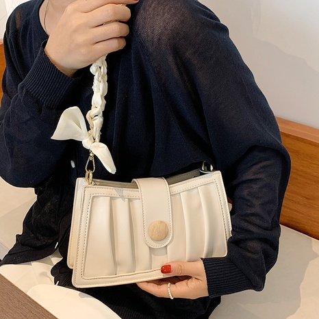 wholesale simple silk chain solid color crossbody small square bag nihaojewelry  NHWH382199's discount tags