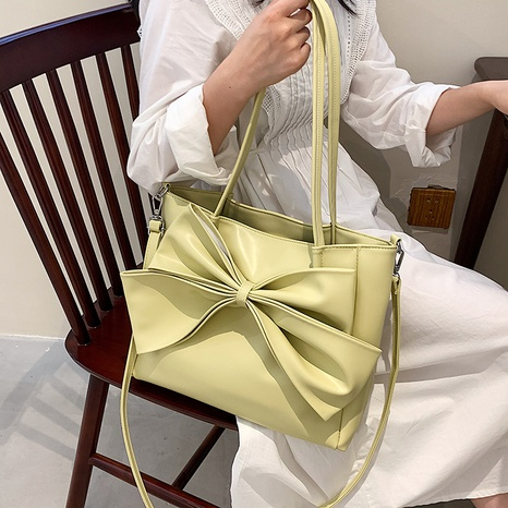 wholesale simple large-capacity big bowknot shoulder messenger tote bag nihaojewelry  NHLH382229's discount tags