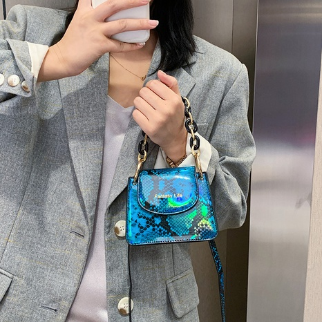 wholesale fashion snake pattern shoulder messenger small square bag nihaojewelry  NHLH382255's discount tags