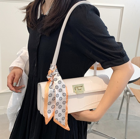 wholesale fashion stone pattern silk scarf shoulder underarm bag nihaojewelry  NHLH382259's discount tags