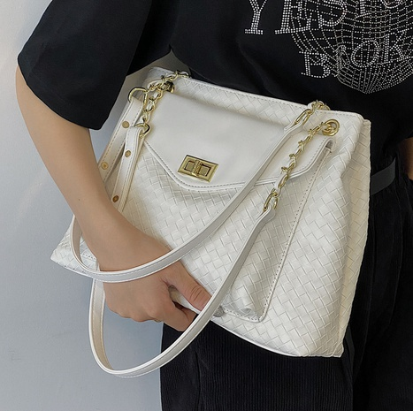 wholesale fashion rhumbus woven messenger tote bag nihaojewelry  NHLH382293's discount tags