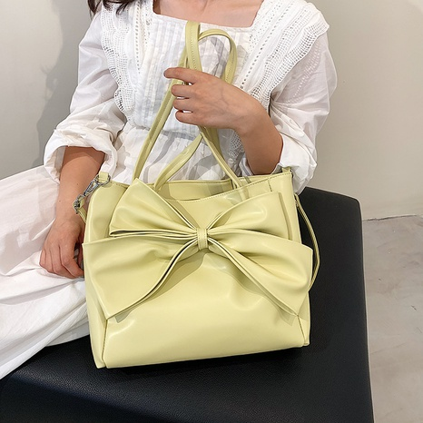 wholesale fashion solid color bowknot messenger tote bag nihaojewelry  NHLH382300's discount tags