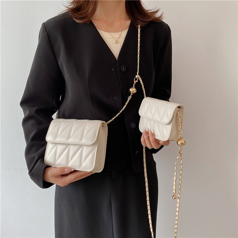 Nihaojewelry fashion solid color chain shoulder messenger bag wholesale NHLH382327's discount tags