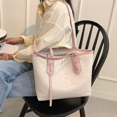 fashion cartoon embossed large-capacity handbags wholesale NHLH382340's discount tags