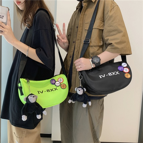 Nihaojewelry Korean style one-shoulder messenger tooling bag NHLH382349's discount tags