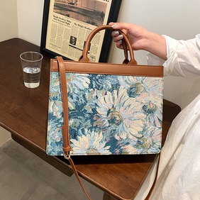 Nihaojewelry retro style oil painting shoulder large capacity tote bag wholesale  NHLH382355