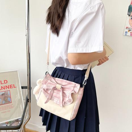 wholesale casual plaid cartoon pendant messenger bag nihaojewelry  NHAV382084's discount tags
