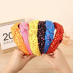 wholesale jewelry fabric printing polka dot headband Nihaojewelry NHCL382476