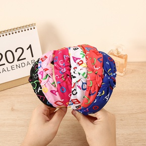 wholesale jewelry fabric printing letters headband Nihaojewelry NHCL382479