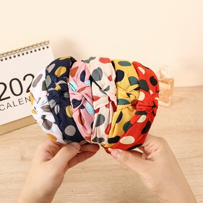 wholesale jewelry clashing color polka dot headband Nihaojewelry NHCL382480