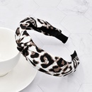wholesale jewelry leopard print fabric headband Nihaojewelry NHCL382477
