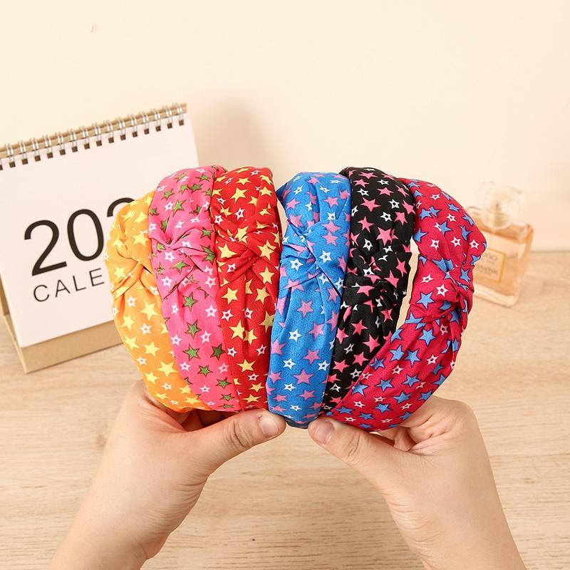 wholesale jewelry little star fabric headband Nihaojewelry NHCL382484