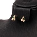 Nihaojewelry Fashion fun fruit grape lychee pineapple zircon earrings wholesale jewelry NHPY382584