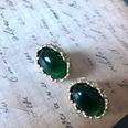 NHOM1777295-Green-oval-silver-pin-stud-earrings