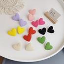 wholesale jewelry fashion color heartshaped stud earrings nihaojewelry  NHMS382743