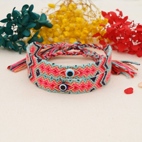 wholesale jewelry simple eye shape cotton braided bracelet nihaojewelry  NHGW382821's discount tags