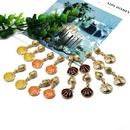 wholesale jewelry fashion color scallop shape pendant earrings NHOM382895