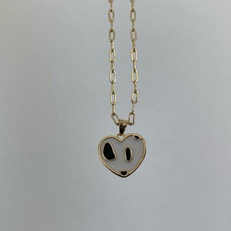 Vente en gros bijoux mode pendentif motif vache en forme de coeur collier nihaojewelry NHJIF382936's discount tags