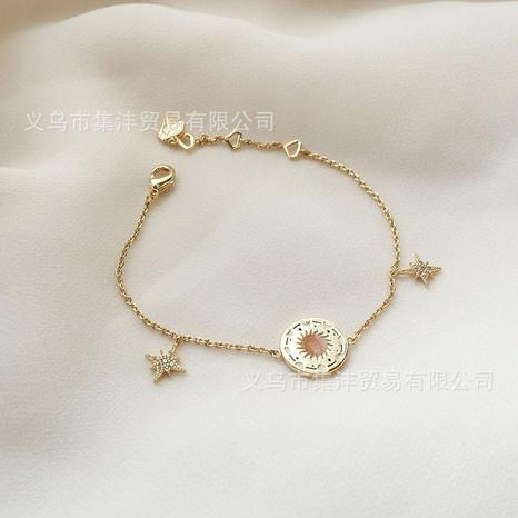 vente en gros bijoux simple étiquette ronde tarot bracelet en acier titane nihaojewelry NHJIF382946's discount tags