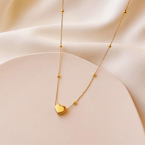 vente en gros bijoux simple collier en acier au titane en forme de coeur nihaojewelry NHJIF382947's discount tags