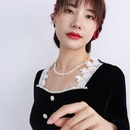 wholesale jewelry retro natural freshwater pearl necklace nihaojewelry  NHOK382991